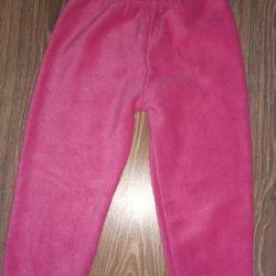 Fleece pants 3-4 g