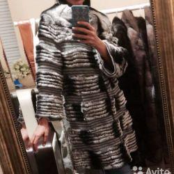 Пальто шиншиловий орілага на кашемір one size