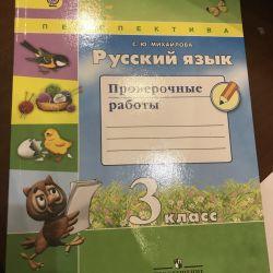 Ρωσική γλώσσα, εργασία επαλήθευσης S.Yu. Μιχαήλ 3