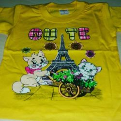 T-shirts for children 1,2,3 years