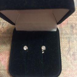 Silver Earrings Carnations, Studs Earrings