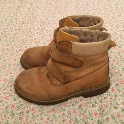 Boots naturale suede și blană 34 dimensiune