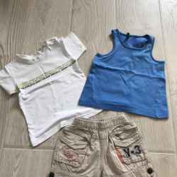 Shorts, T-shirt and T-shirt