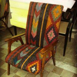 Дизайнерское винтажное кресло в восточном стиле