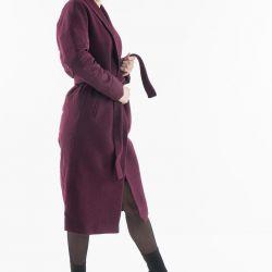 Шерстяное Пальто Electrastyle из двух видов ткани