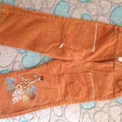 Trousers corduroy on girl
