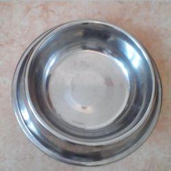 Миска для кішок і собак. металева