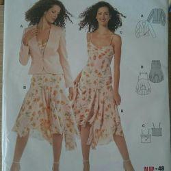BURDA pattern, jacket, top, skirt