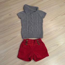 Children's clothes, shorts and blouse 92cm