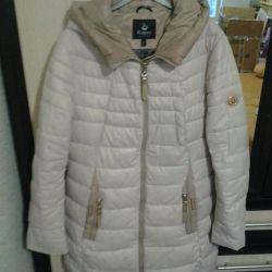 Coat jacket female river 46-48 winter, synthetic winterizer