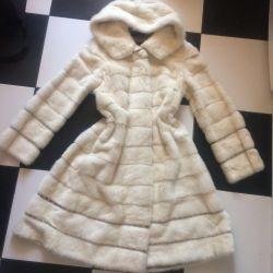 Mink γούνινο παλτό επειγόντως σε rhinestones