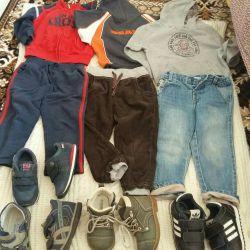 Jeans.pryuki.tolstovki și pantofi pentru băiat 1.5-2.5