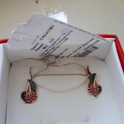 Gold earrings. New.