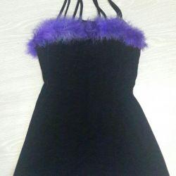 The dress is velvet