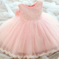 Dress for princesses, a rim with a flower as a gift but