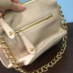 Beige bag with gold chain