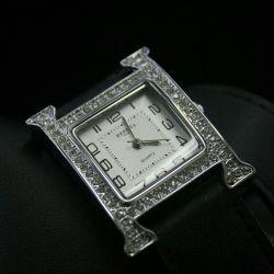 Женские часы hermes с двойным ремешком