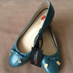 Shoes leather, New, 37,5 rub