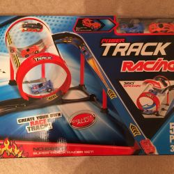 Track with two cars