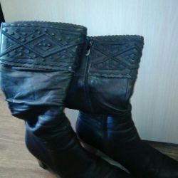 Boots demi-season, genuine leather