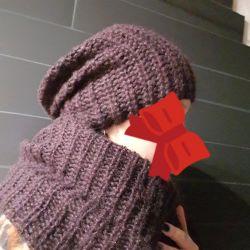 Καπέλο + μεγάλο κασκόλ) Set