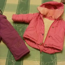 Set (overalls) girls 92 size WINTER