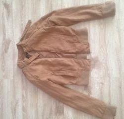 short suede jacket