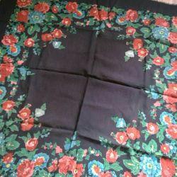 handkerchief b / w 90 * 90cm USSR