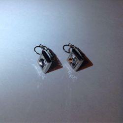 Λευκά σκουλαρίκια χαλαζία