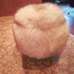 Zengin doğal kürk şapka