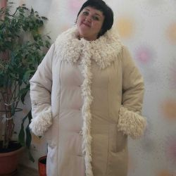 Chic winter coat of large size