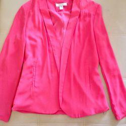 Jacket color coral size 40-42-44