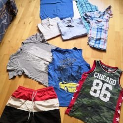 Pack of things on a teenager boy 152-158-164-170