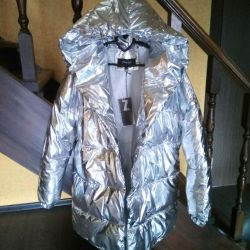 Куртка Италия парка Серебро