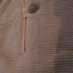 men's trousers, mustard-colored micro-velvet