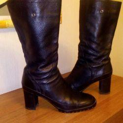 Demi-season boots. Leather. ALBA