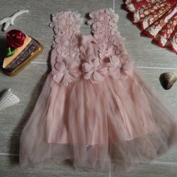 Dress with tulle. 70-80cm