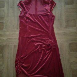 Велюровое платье)
