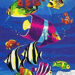Ζωγραφική με αριθμούς 30/40 cm Ocean