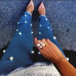 New jeans with beads