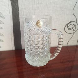 Beer glass crystal.