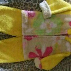 Детский махровый костюмчик на 1-1,5 года