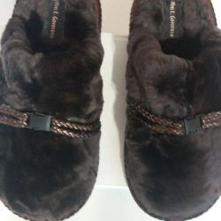 Smart slippers from fur for boys