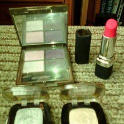Shadows, lipstick