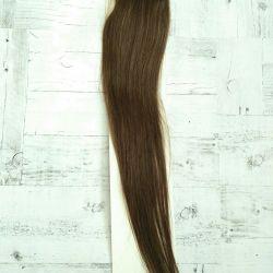 Natural brown new hair