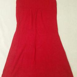 Трикотажное теплое платье.