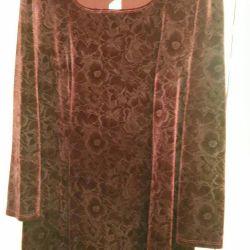 Платье темно-бардового цвета 56 р.