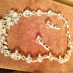 Jewelry (set) made of natural rock crystal