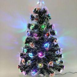 60 cm yerleşik bir garland ile Noel ağacı