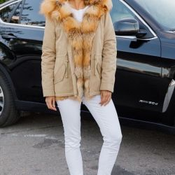 Park with red fox fur